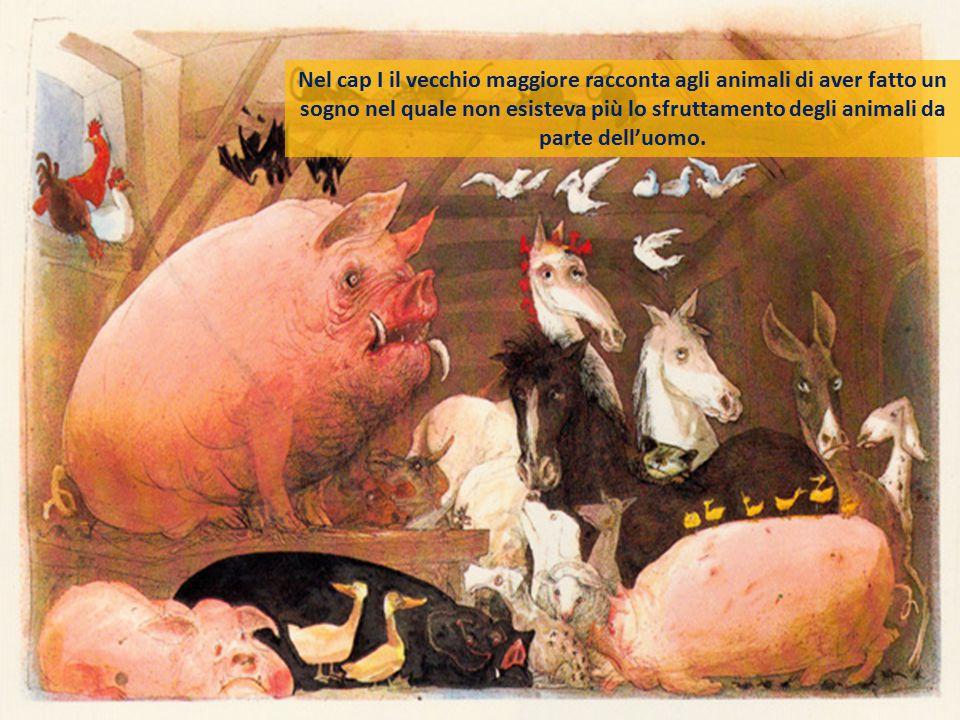 Il vecchio maggiore = Marx -Lenin Introduce nella fattoria gli ideali su cui la rivoluzione dovrà basarsi, ossia l'animalismo (comunismo) Si identific