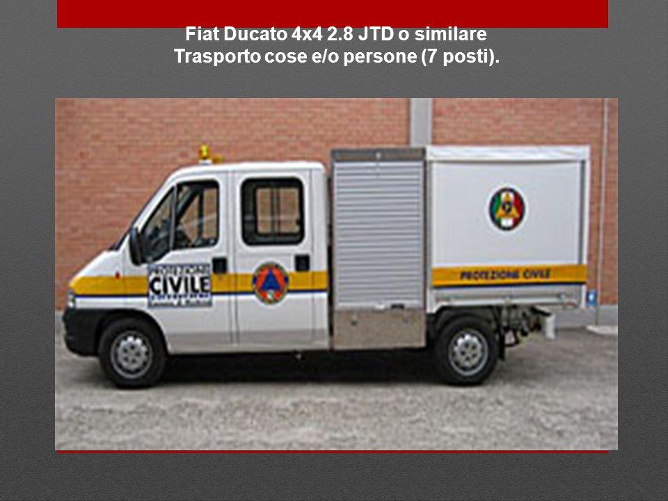 Fiat Ducato 4x4 2.8 JTD o similare Trasporto cose e/o persone (7 posti).
