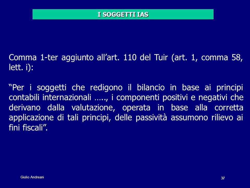 37 Giulio Andreani. Comma 1-ter aggiunto all'art.