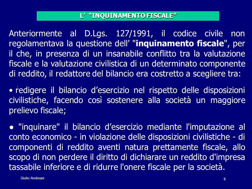 5 Giulio Andreani. Anteriormente al D.Lgs.
