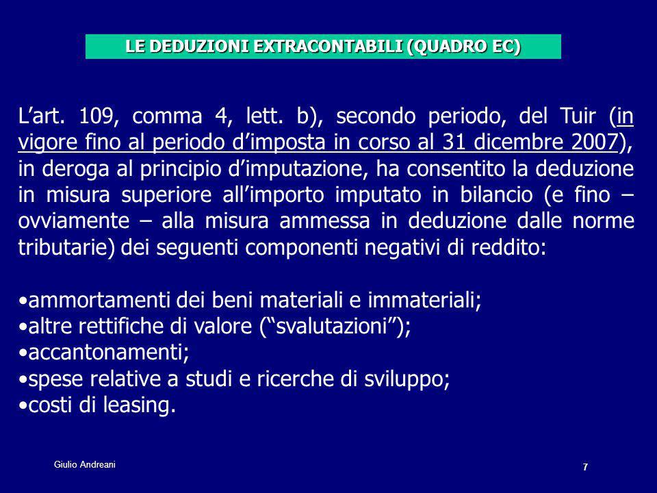7 Giulio Andreani. L'art. 109, comma 4, lett.