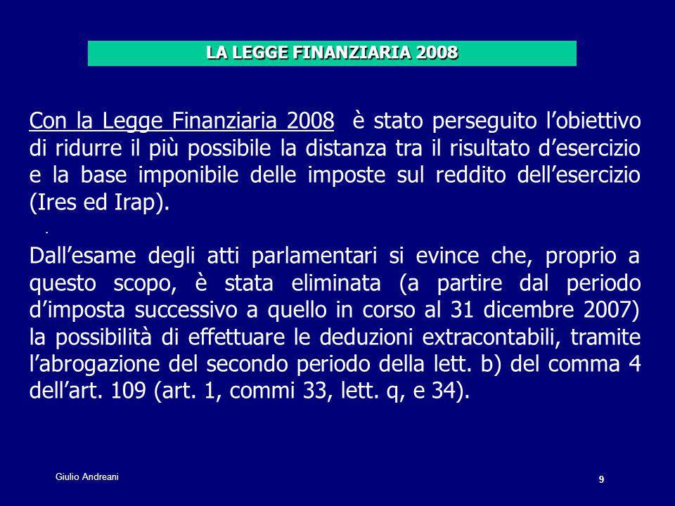 40 Giulio Andreani.Il comma 58 dell'art.