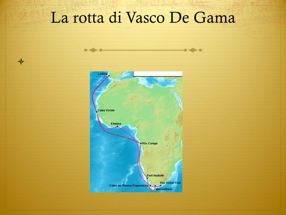 La rotta di Vasco De Gama 