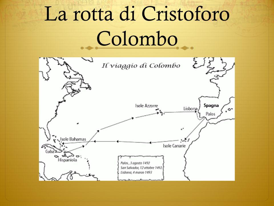 La rotta di Cristoforo Colombo