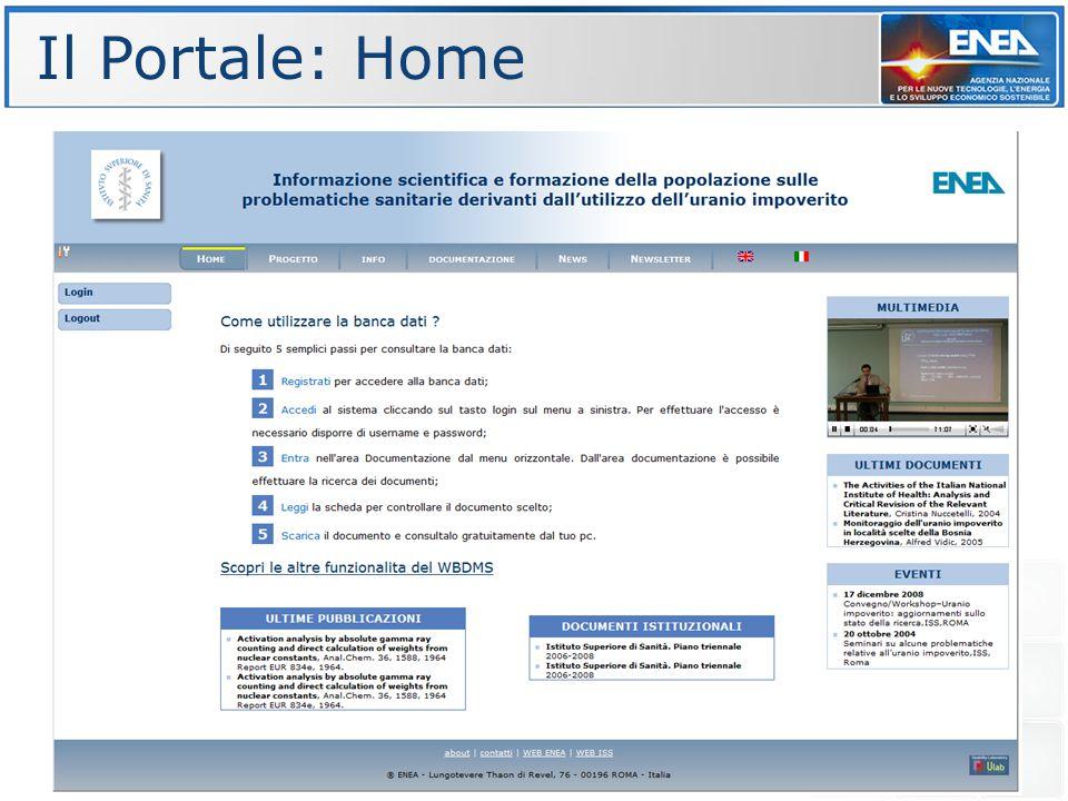 Il Portale: Home New layout Guida utente online Guida utente online