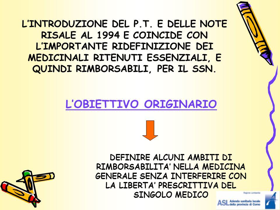 LE PRINCIPALI NOVITA' CHE RIGUARDANO LA COMPILAZIONE DEL P.T.