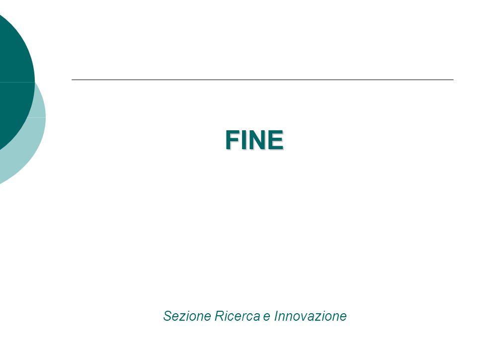 FINE FINE Sezione Ricerca e Innovazione
