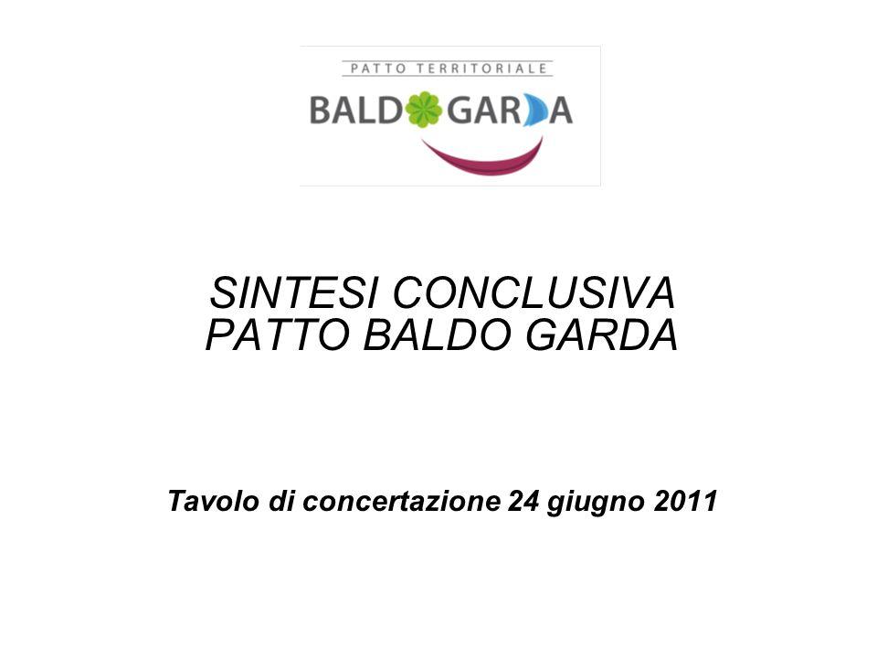 SINTESI CONCLUSIVA PATTO BALDO GARDA Tavolo di concertazione 24 giugno 2011