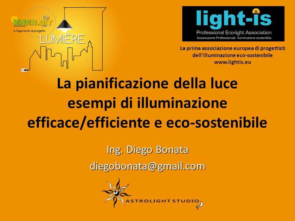 La pianificazione della luce esempi di illuminazione efficace/efficiente e eco-sostenibile Ing. Diego Bonata diegobonata@gmail.com La prima associazio