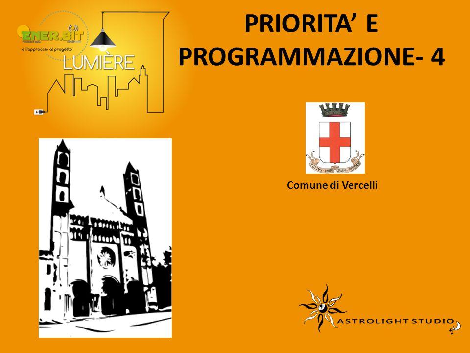 PRIORITA' E PROGRAMMAZIONE- 4 Comune di Vercelli