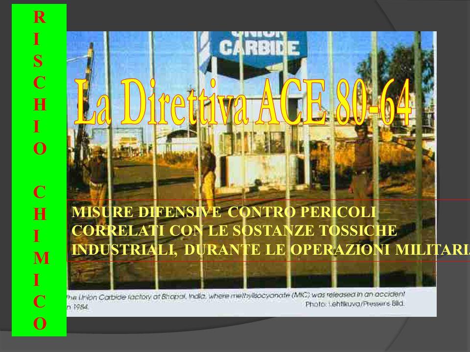 MISURE DIFENSIVE CONTRO PERICOLI CORRELATI CON LE SOSTANZE TOSSICHE INDUSTRIALI, DURANTE LE OPERAZIONI MILITARI.