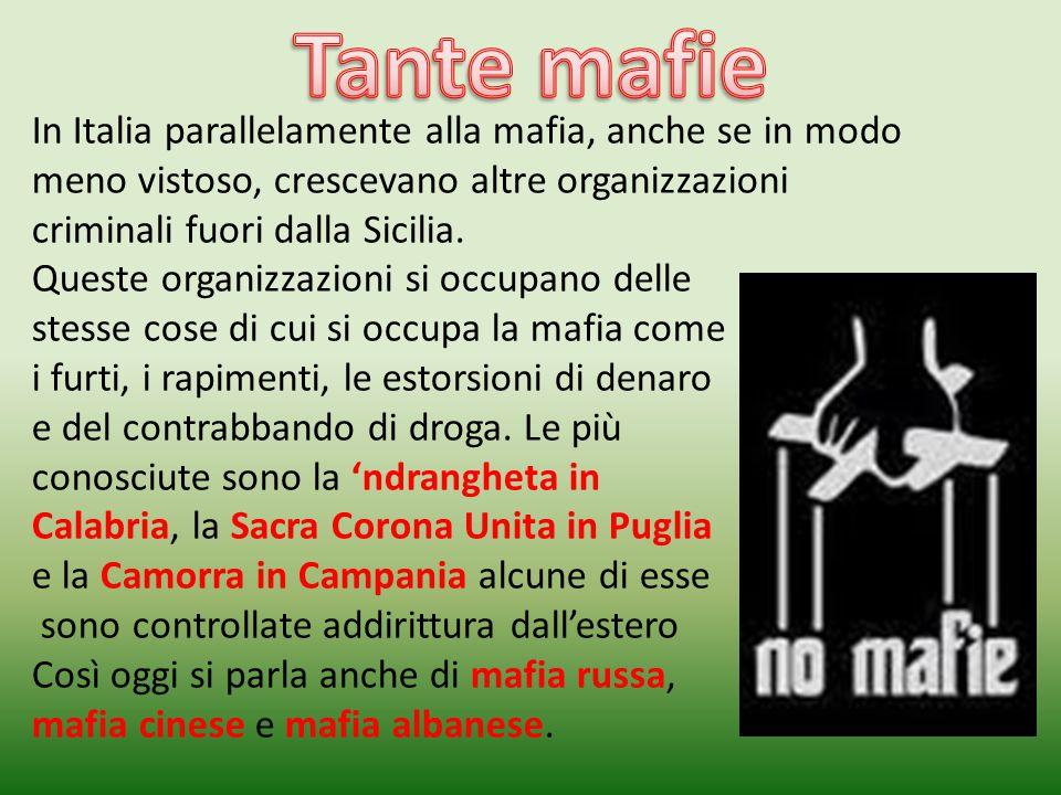Tommaso Buscetta, un mafioso pentito, ci racconta che gli uomini d'onore parlano una lingua molto sintetica che racchiude grandi discorsi in poche parole.