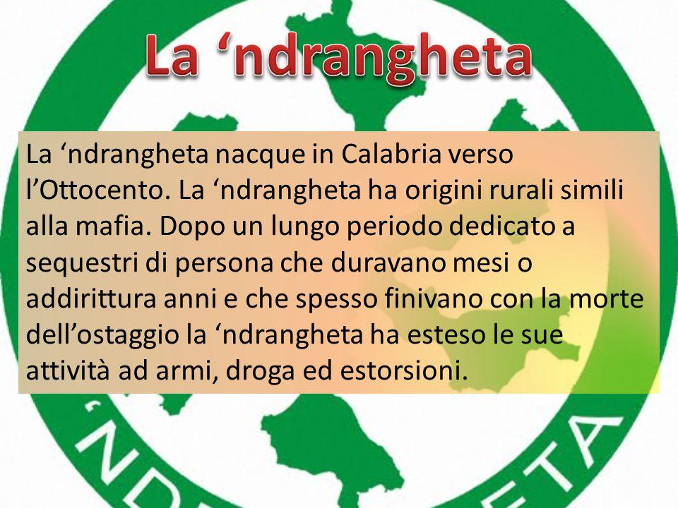 In Italia parallelamente alla mafia, anche se in modo meno vistoso, crescevano altre organizzazioni criminali fuori dalla Sicilia. Queste organizzazio