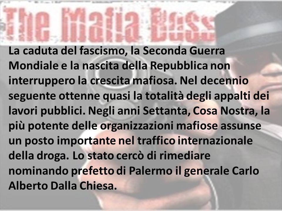 In Italia parallelamente alla mafia, anche se in modo meno vistoso, crescevano altre organizzazioni criminali fuori dalla Sicilia.