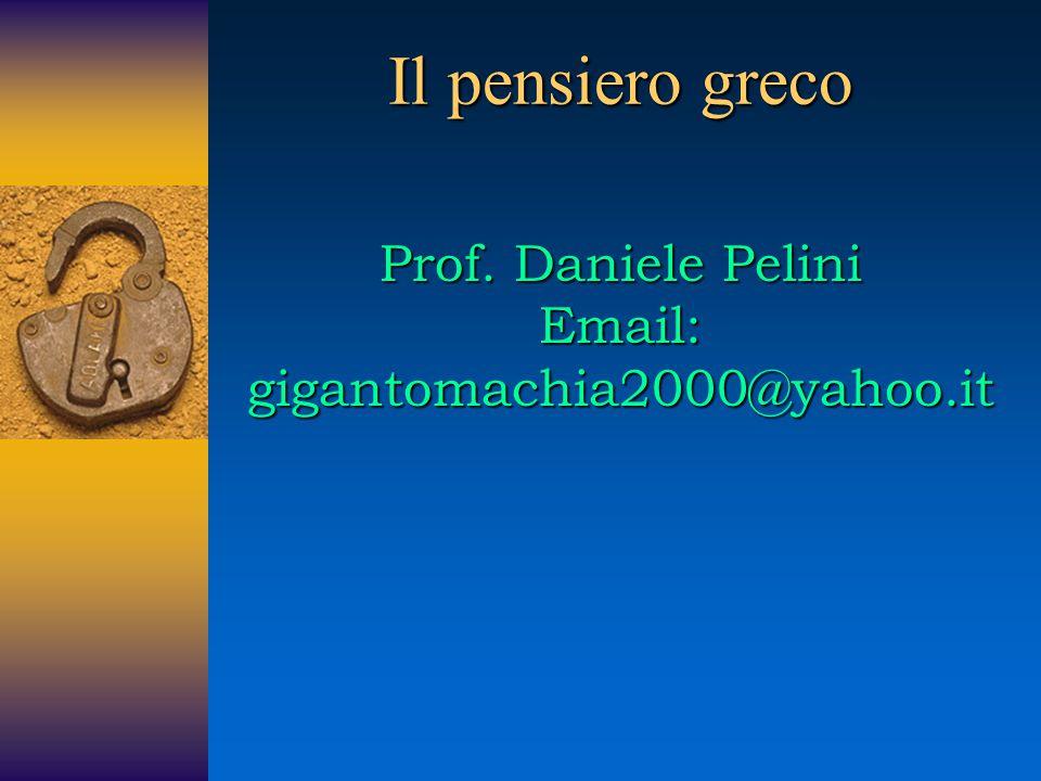Parmenide di Elea (540/539-470 a.C.) Perché non mai questo può venir imposto, che le cose che non sono siano: ma tu da questa via di ricerca allontana il pensiero (Sulla natura, fr.