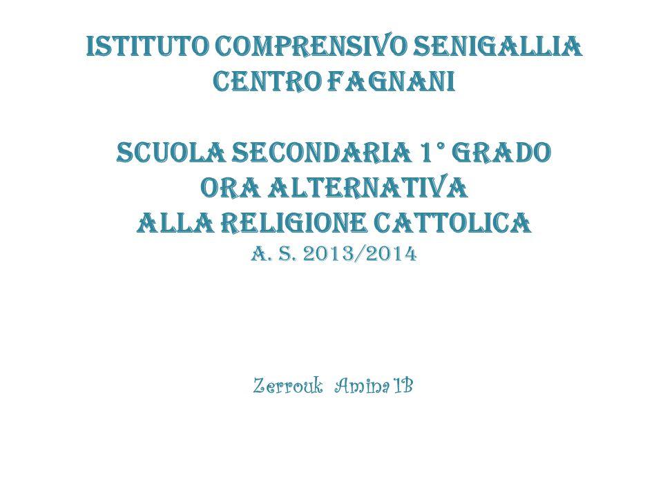 ISTITUTO COMPRENSIVO SENIGALLIA CENTRO FAGNANI Scuola secondaria 1° grado Ora alternativa Alla religione cattolica a. s. 2013/2014 Zerrouk Amina 1B