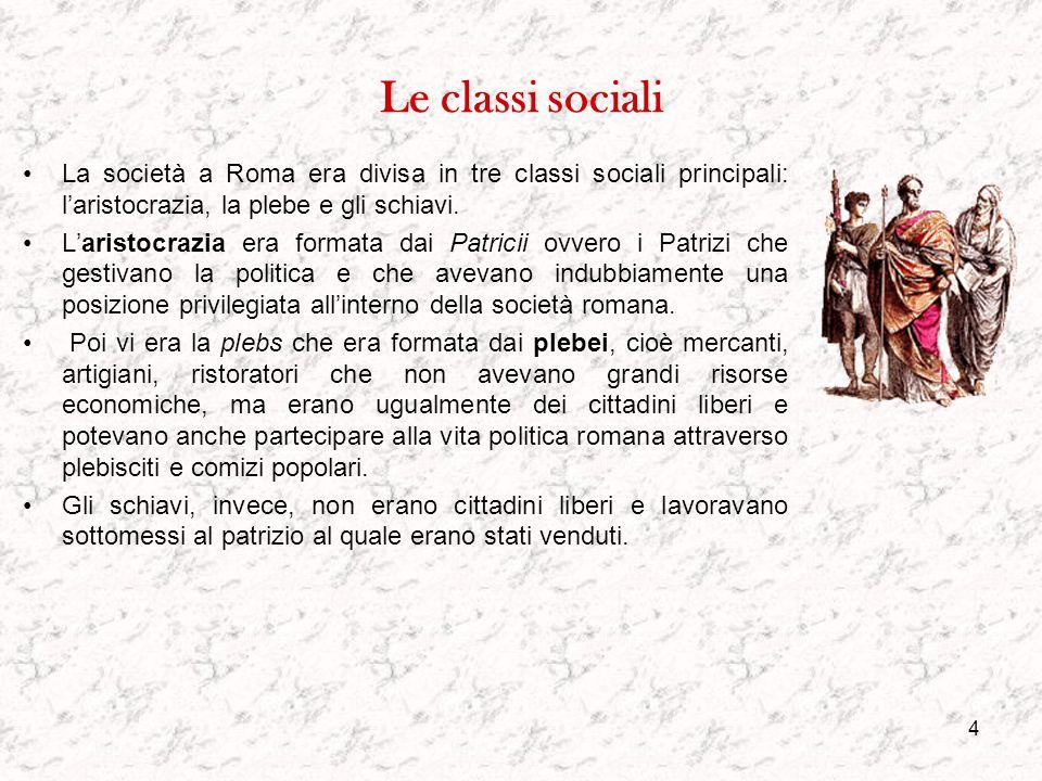 3 Inquadramento generale La vicende storiche di Roma hanno avuto sempre notevole influenza sui cambiamenti sociali: modo di porsi nella società, di in