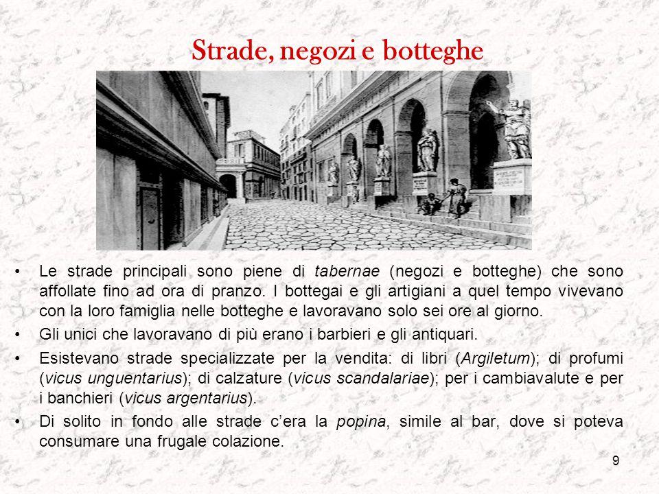 8 Il Foro Il Foro è il cuore di Roma. Qui c'era il Miliarum Aureum, una grande colonna dove erano incise tutte le distanze tra Roma e le principali ci