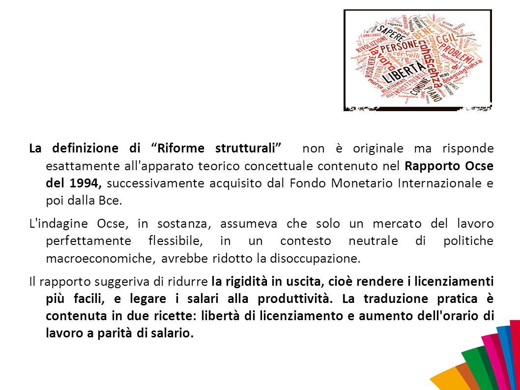 Il mantra, ripetuto ossessivamente nei citati documenti, è che l eccessiva rigidità del mercato del lavoro italiano (di cui la tutela in materia di licenziamenti sarebbe la massima espressione) scoraggerebbe gli investimenti esteri nel nostro paese.