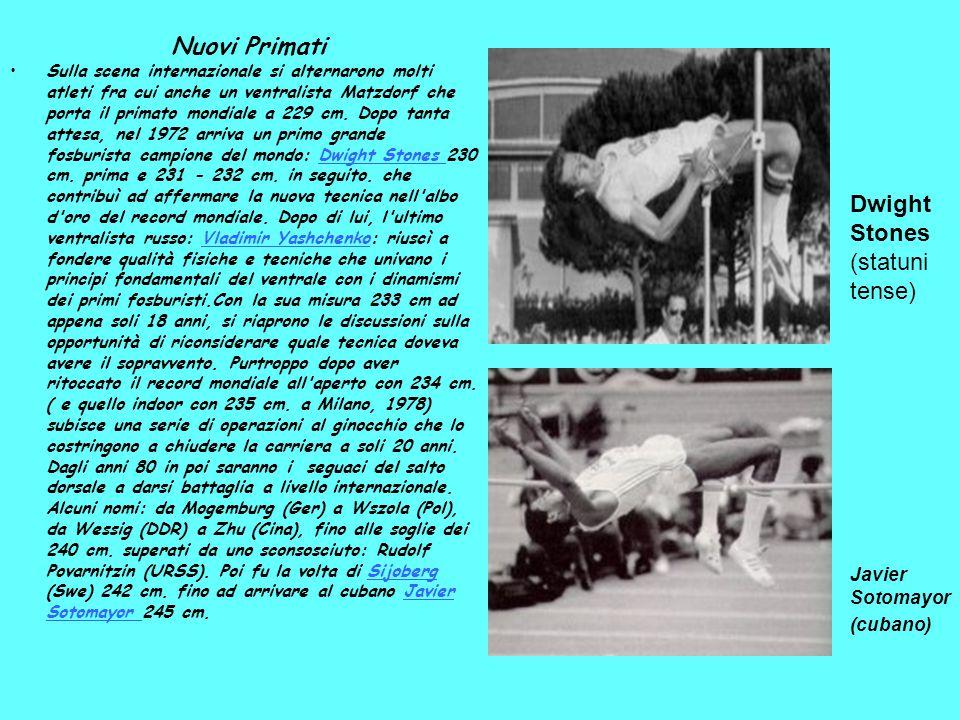 Nuovi Primati Sulla scena internazionale si alternarono molti atleti fra cui anche un ventralista Matzdorf che porta il primato mondiale a 229 cm. Dop