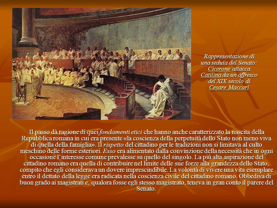 Rappresentazione di una seduta del Senato: Cicerone attacca Catilina da un affresco del XIX secolo di Cesare Maccari Cicerone Catilina Cesare Maccari