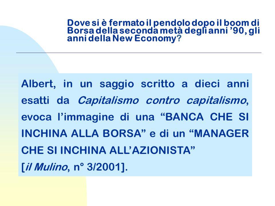 Dove si è fermato il pendolo dopo il boom di Borsa della seconda metà degli anni '90, gli anni della New Economy.
