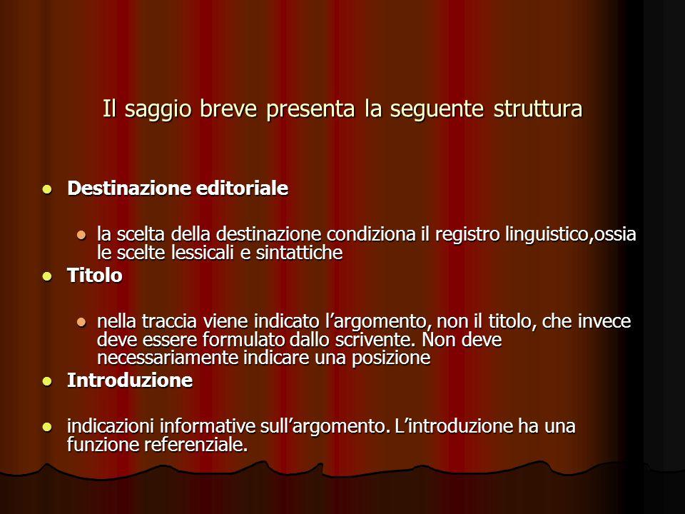 Struttura Problema Problema È l confronto delle posizioni – tesi e antitesi-; può essere espresso in forma di domanda o con una affermazione.