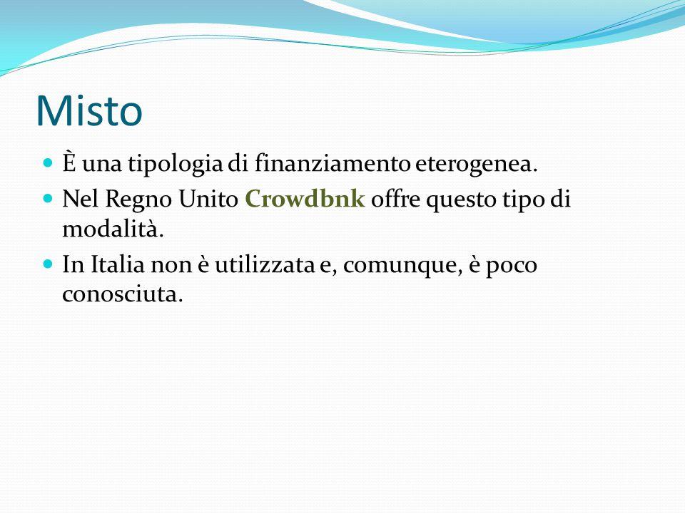 Misto È una tipologia di finanziamento eterogenea.