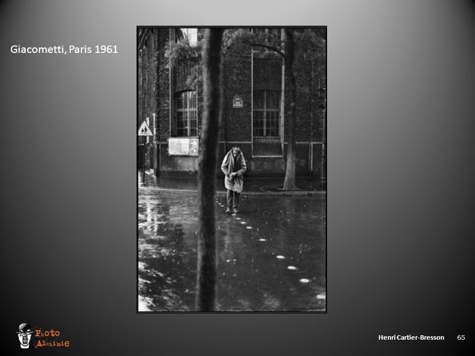 Henri Cartier-Bresson 65 Giacometti, Paris 1961