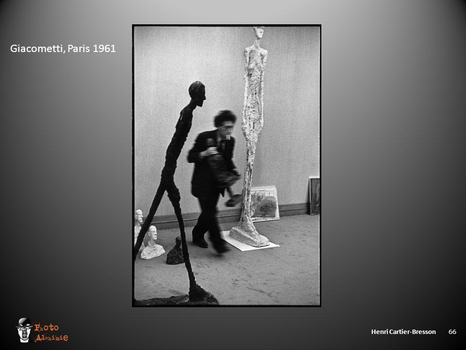 Henri Cartier-Bresson 66 Giacometti, Paris 1961