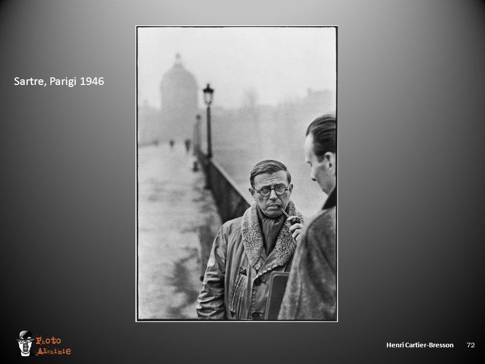 Henri Cartier-Bresson 72 Sartre, Parigi 1946