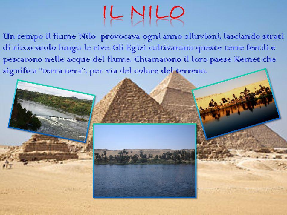 Un tempo il fiume Nilo provocava ogni anno alluvioni, lasciando strati di ricco suolo lungo le rive. Gli Egizi coltivarono queste terre fertili e pesc