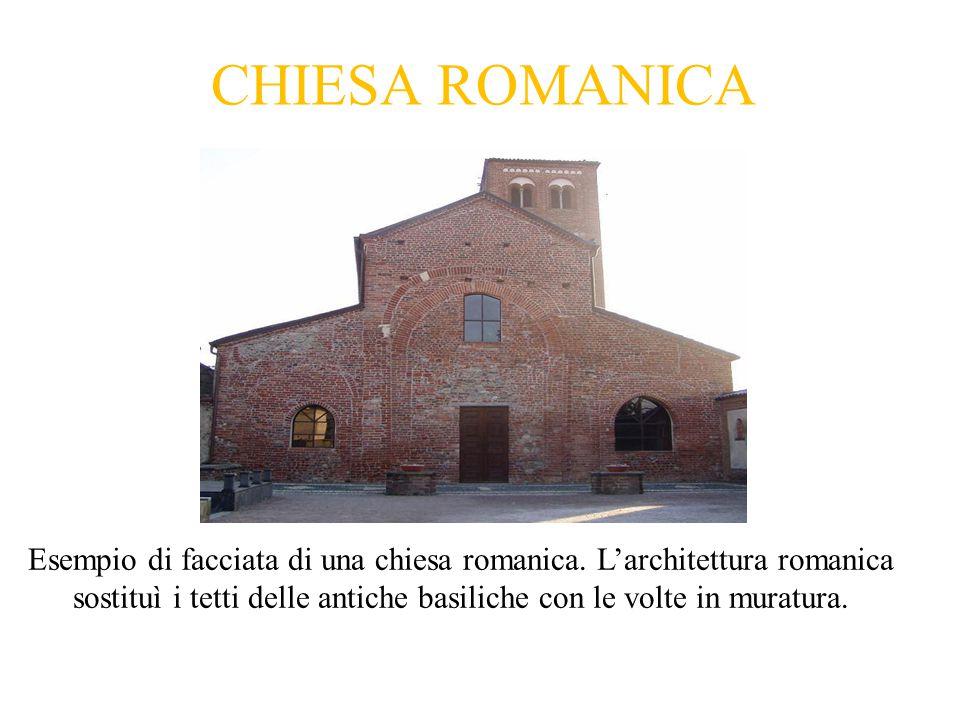CHIESA ROMANICA Esempio di facciata di una chiesa romanica.