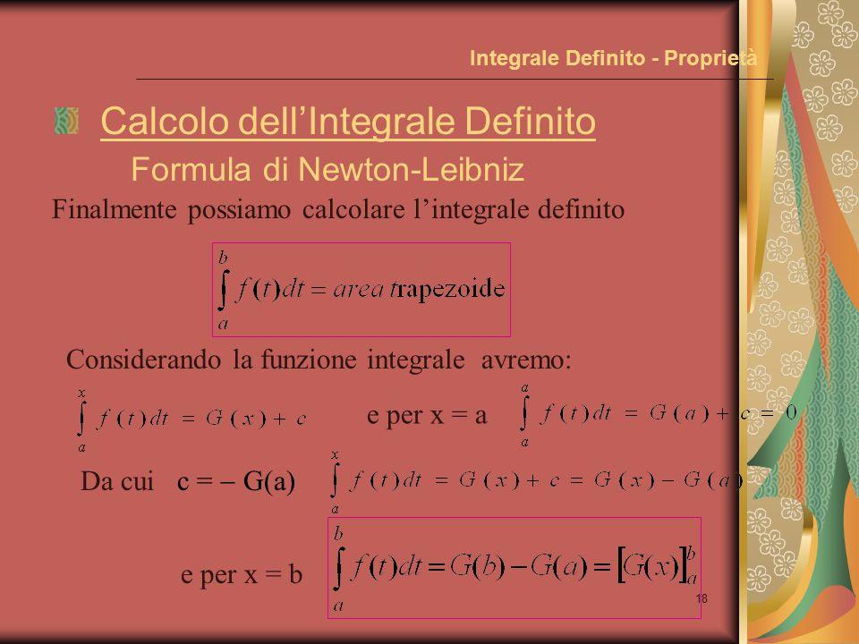 17 Integrale Definito - Proprietà Teor.