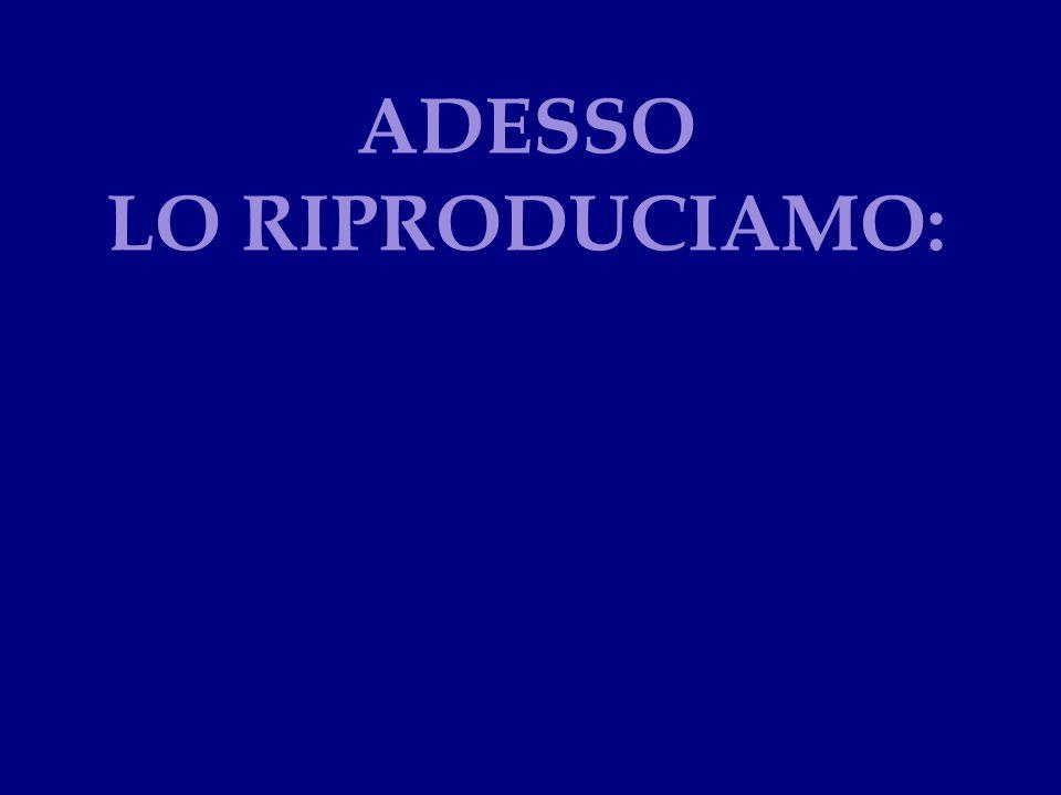 ADESSO LO RIPRODUCIAMO: