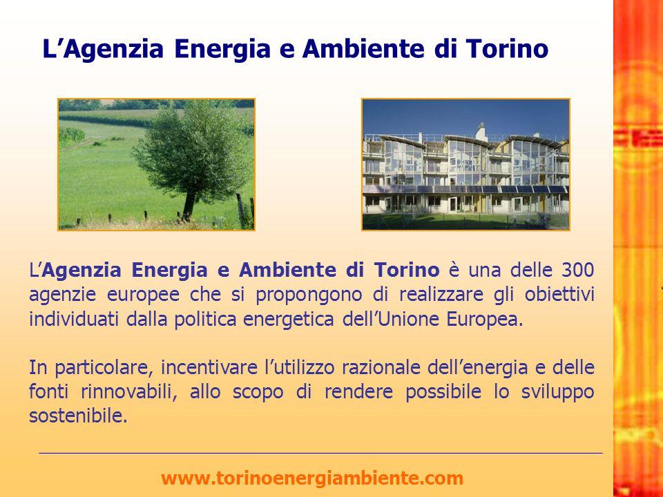 L'Agenzia Energia e Ambiente di Torino L'Agenzia Energia e Ambiente di Torino è una delle 300 agenzie europee che si propongono di realizzare gli obie