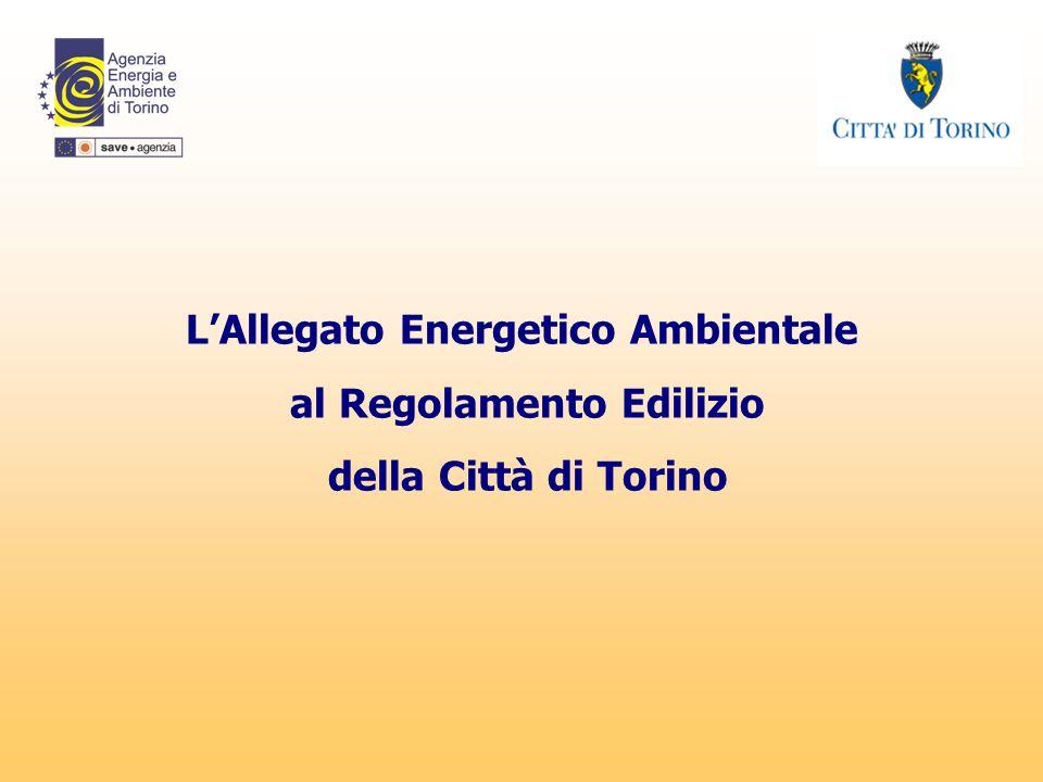 L'Allegato Energetico Ambientale al Regolamento Edilizio della Città di Torino