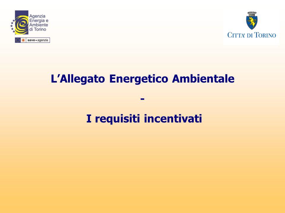 L'Allegato Energetico Ambientale - I requisiti incentivati