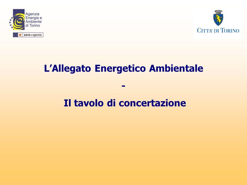 L'Allegato Energetico Ambientale - Il tavolo di concertazione