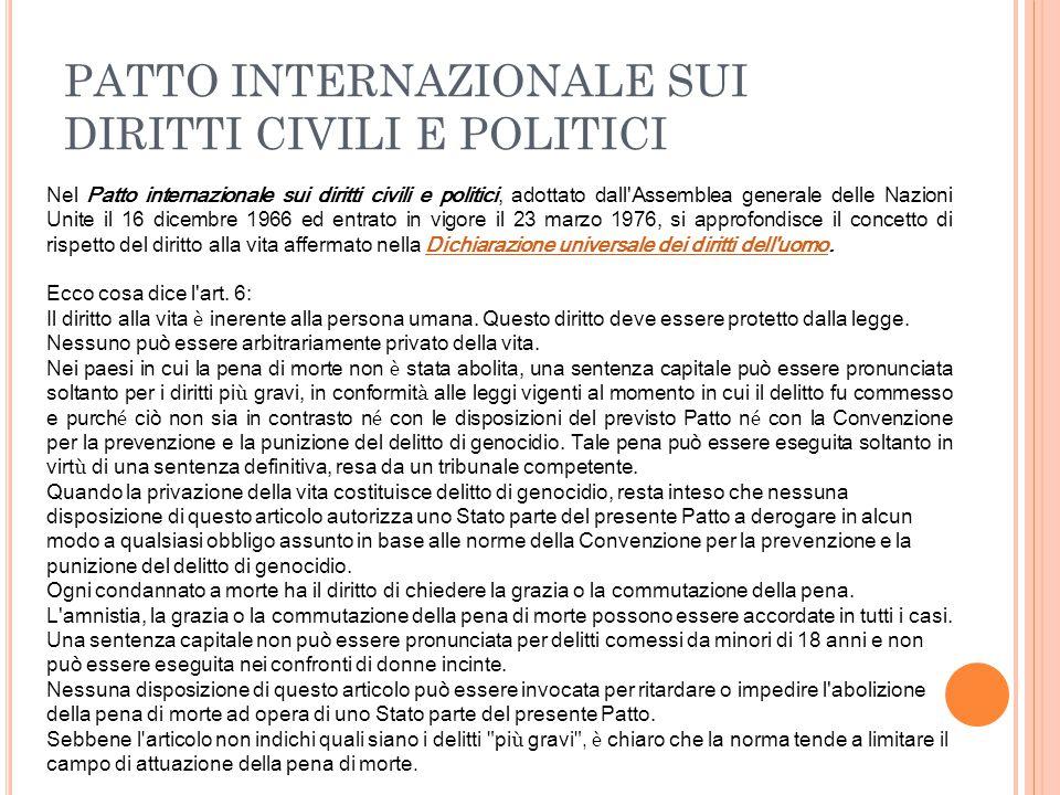 COSTITUZIONE ITALIANA Articolo 27, comm.