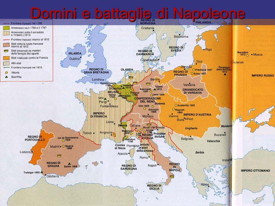 Domini e battaglie di Napoleone