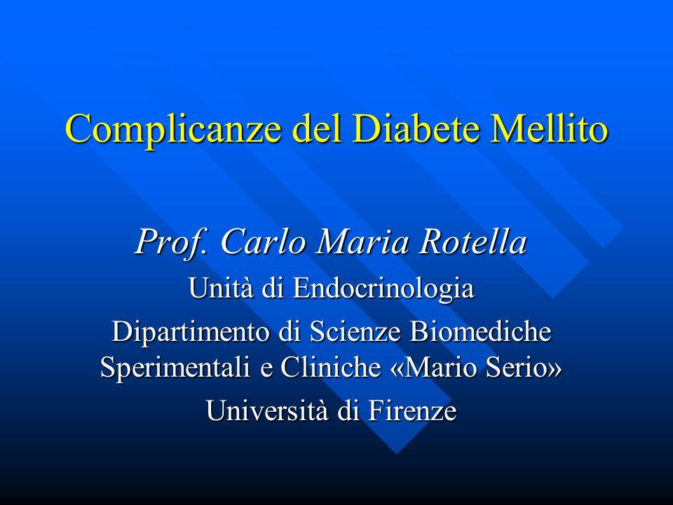 Complicanze del Diabete Mellito Prof.