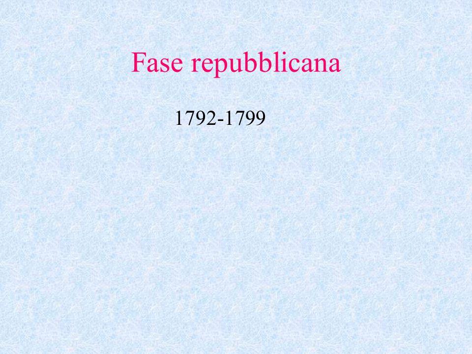 Fase repubblicana 1792-1799