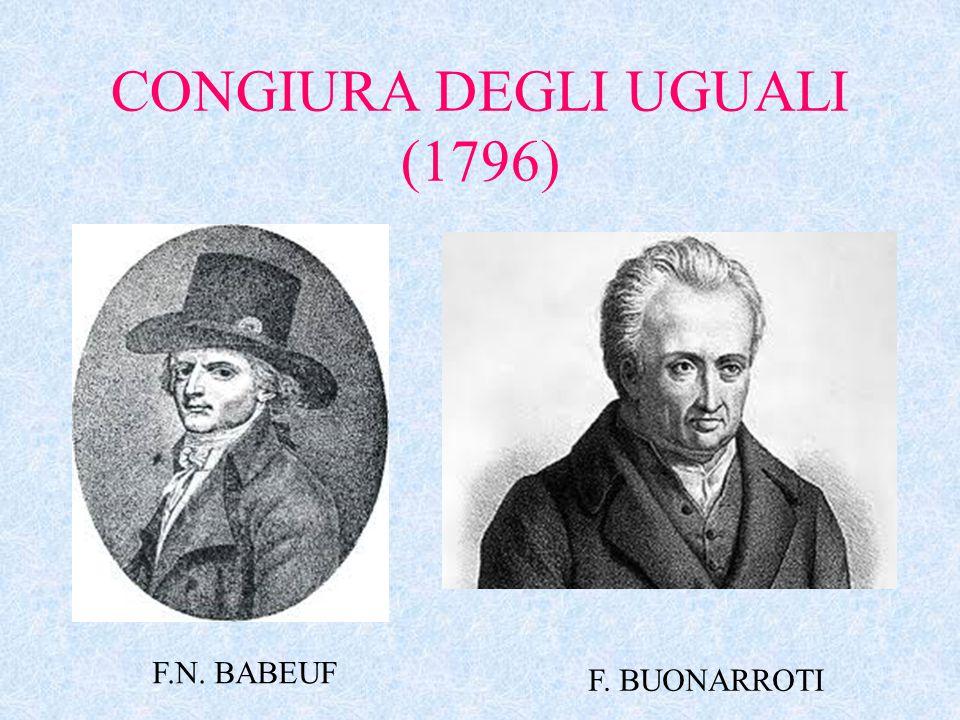 CONGIURA DEGLI UGUALI (1796) F.N. BABEUF F. BUONARROTI