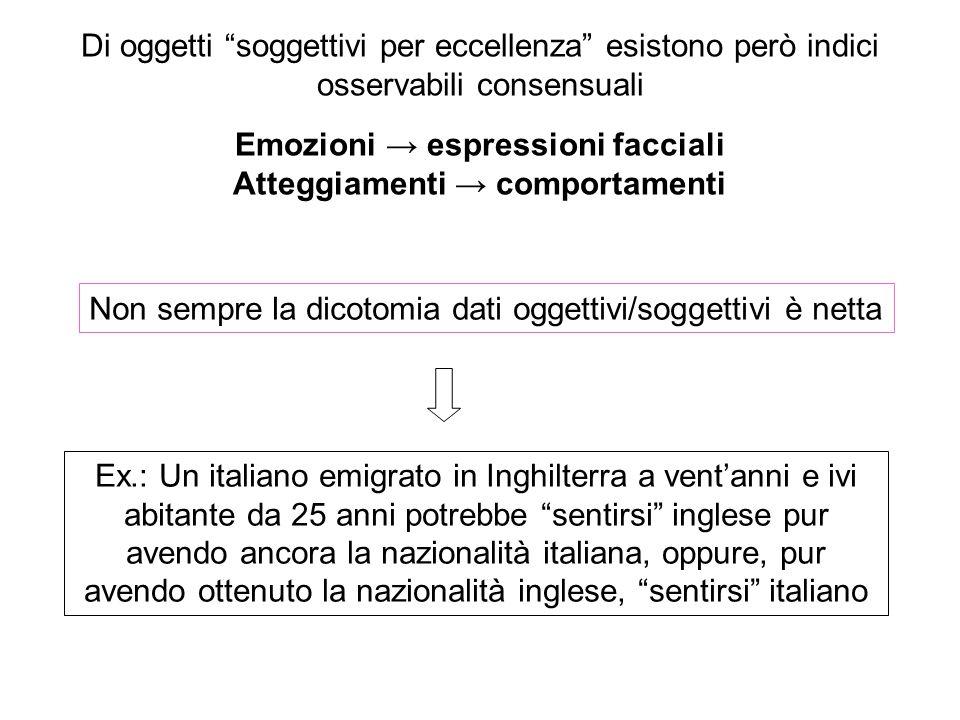 """Ex.: Un italiano emigrato in Inghilterra a vent'anni e ivi abitante da 25 anni potrebbe """"sentirsi"""" inglese pur avendo ancora la nazionalità italiana,"""