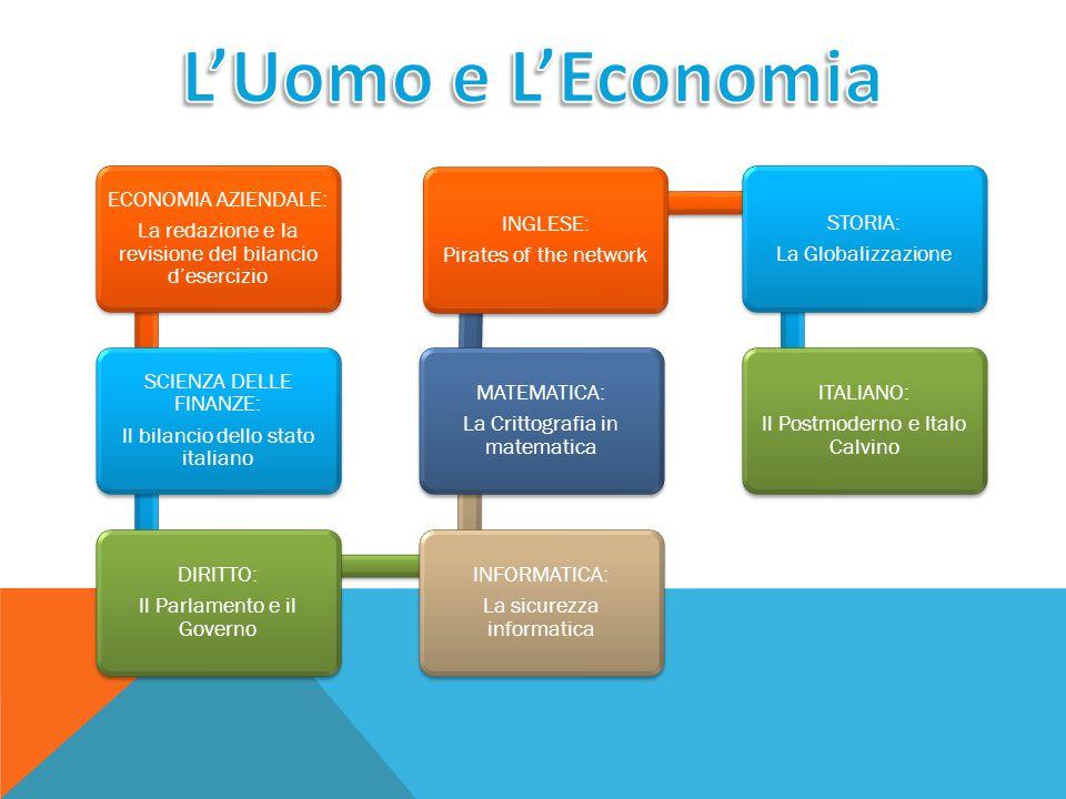 ECONOMIA AZIENDALE: La redazione e la revisione del bilancio d'esercizio SCIENZA DELLE FINANZE: Il bilancio dello stato italiano DIRITTO: Il Parlament