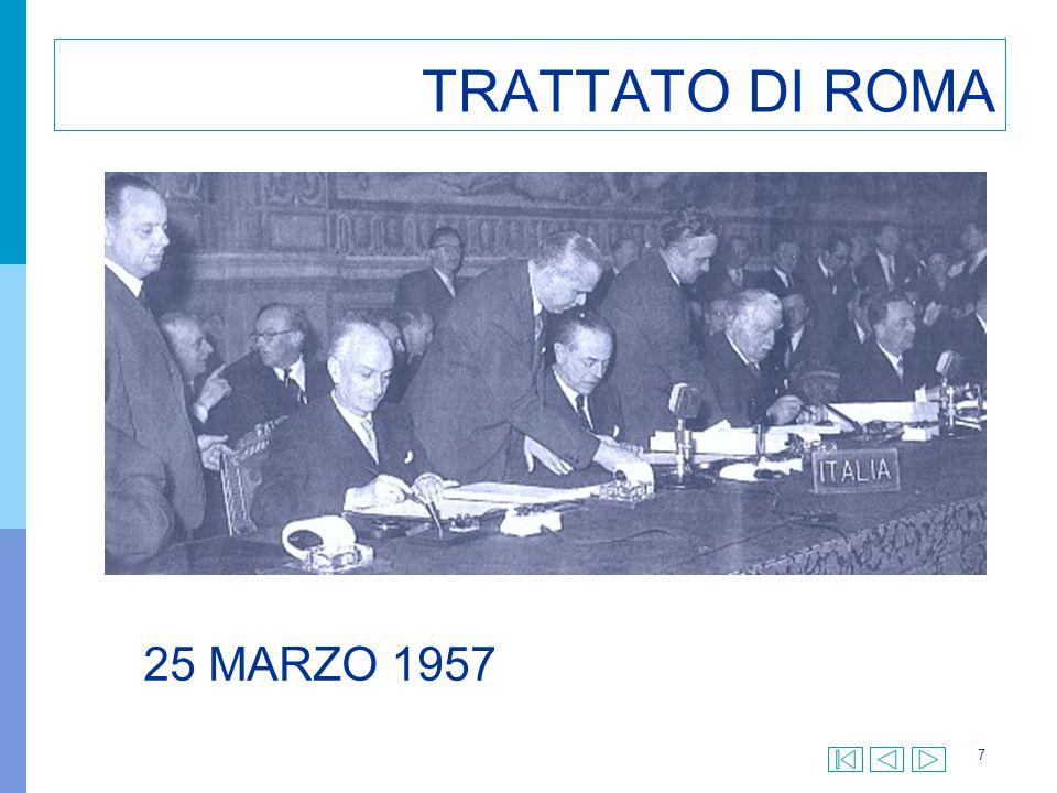 18 TRATTATO DI MAASTRICHT 7 Febbraio 1992 Viene firmato a Maastricht il Trattato istitutivo dell Unione Europea, che entra in vigore il 1 novembre 1993.