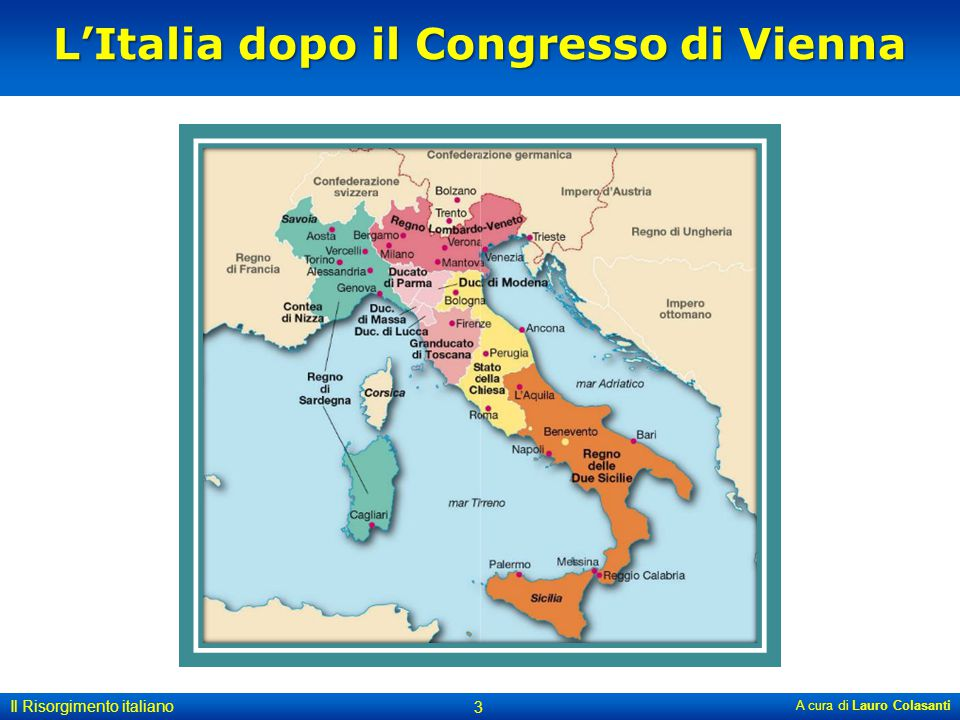 Italia alleata della Prussia contro l'Austria.