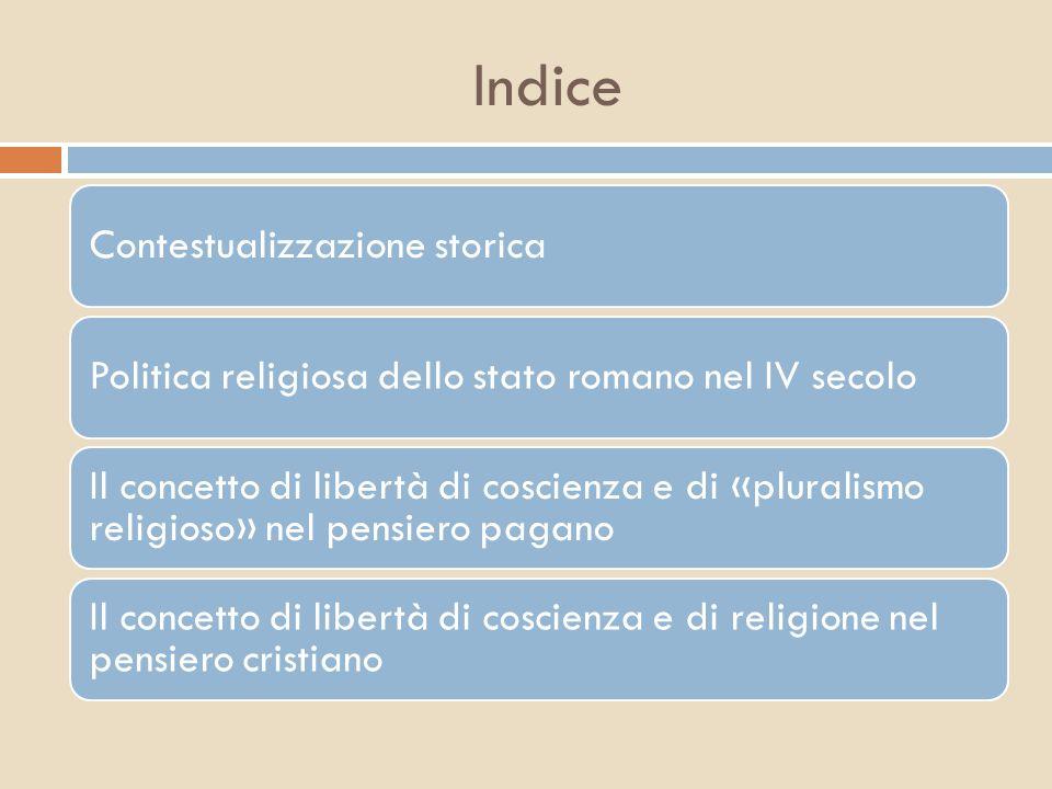 Contestualizzazione storica  Dopo il ritiro di Diocleziano divennero Augusti Galerio in (Oriente)e Costanzo Cloro (Occid.)e Cesari, Massimino Daia e Severo.