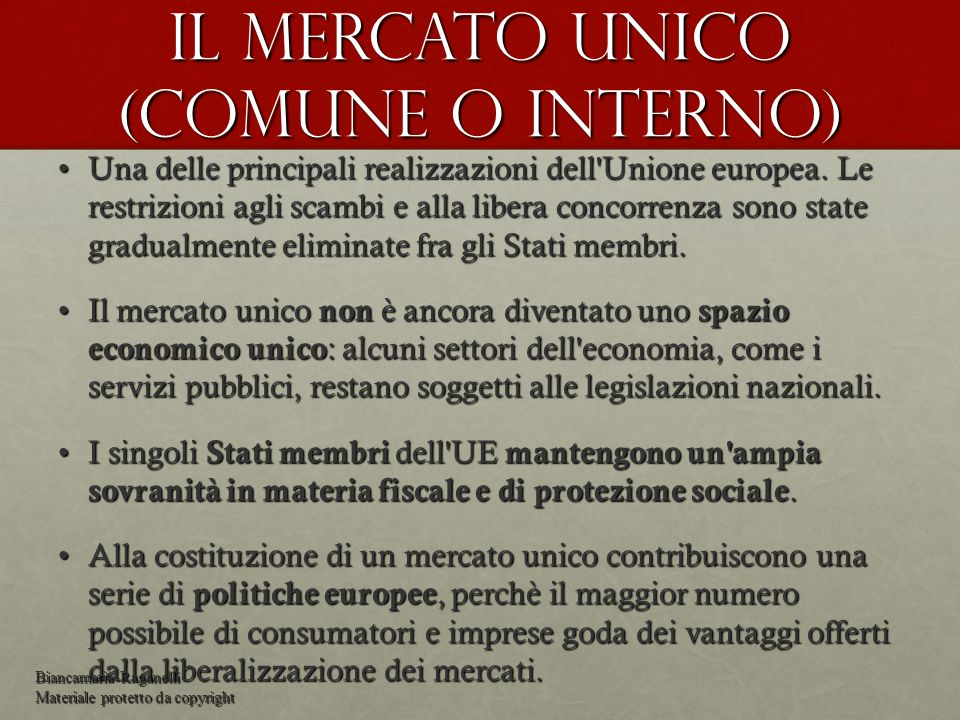 Mercato interno ART.